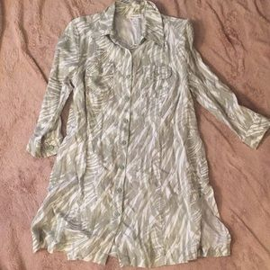 Style and co linen tunic or dress size 6